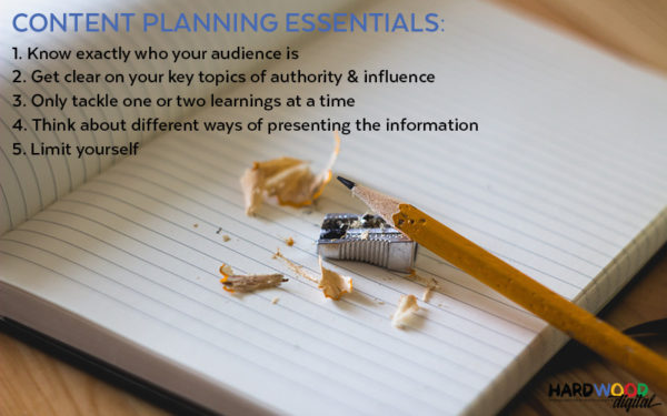 Improve SEO content planning essentials