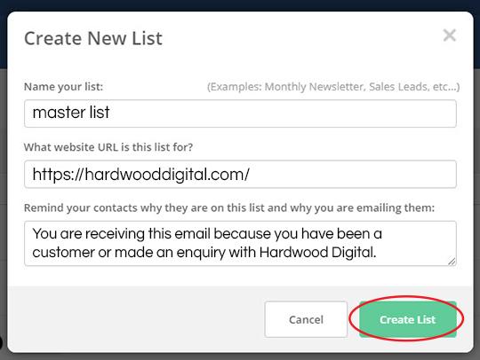 email marketing set up